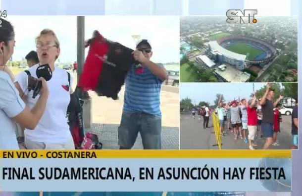 Final sudamericana: ¡Asunción de fiesta!