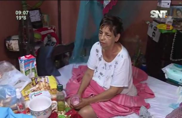 Anciana en estado de abandono